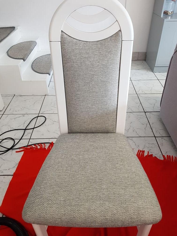 Wyprana tapicerka krzesła
