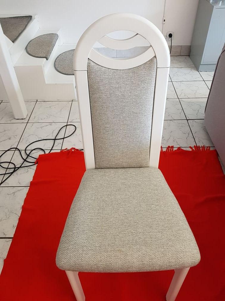 krzesło tapicerowane przed praniem