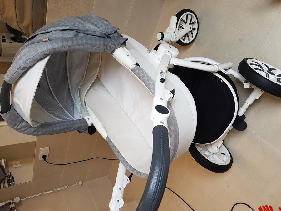 Wyprany wózek, stelaż wózka Karcherem - Śrem